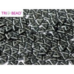 Perles Tri-Beads 4mm Jet Hématite (X 5gr)