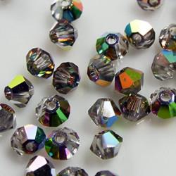 Toupies 3mm Crystal Vitrail Medium - réf.5301 (x20)