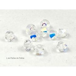 Toupies 4mm Crystal AB - réf. 5328 Xilion (x20)