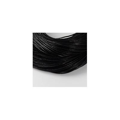 Cuir Noir 1,5mm(X1m)