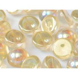 Dome Bead 14 x 8 mm Crystal Yellow Rainbow (x50)