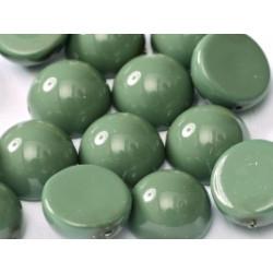 Dome Bead 14 x 8 mm Hartford Green Opaque (x50)