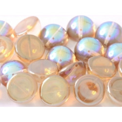 Dome Bead 14 x 8 mm Crystal Brown Rainbow (x50)