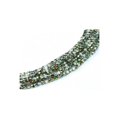 Facettes en verre de Bohême 2mm Crystal Vitrail Médium (X100)