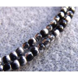 Perles Bohème 2 mm Jet Labrador (X1200 perles)