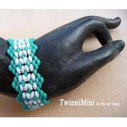 "Schéma du bracelet ""Twinimini"" de Pat de Verre"