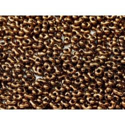 Perles Peanut 2x4mm Jet Bronze (x5gr env)