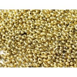 Perles Peanut 2x4mm Jet Amber Full (x5gr env)