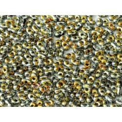 Perles Peanut 2x4mm Jet Full Marea (x5gr env)