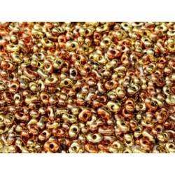 Perles Peanut 2x4mm Jet California Gold Rush (x5gr env)