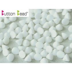 Perles Buttons 4mm ChalkWhite (X30)