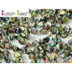 Perles Buttons 4mm Chalkwhit Vitrail Full (X30)