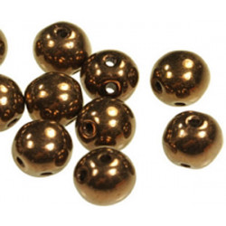 Perles RounDuo Jet Bronze 5mm (X20)