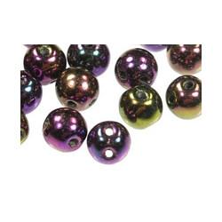 Perles RounDuo Purple Iris 5mm (X20)