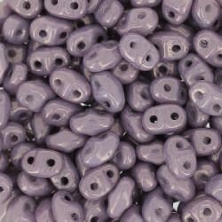 Perle SuperDuo® Mini Opaque Amethyst Luster 2X4mm (X10gr)