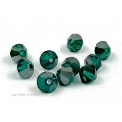 Toupies 4mm Emerald Satin- réf. 5301 (x20)