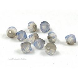 Toupies 4mm White Opal Satin - réf. 5301 (x20)