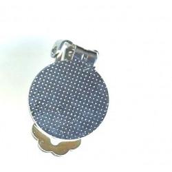 Boucle Clip à coller Argenté 16mm (x2)
