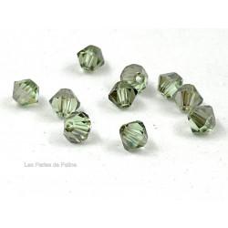 Toupies 4mm Chrysolite Satin - réf. 5301 (x20)