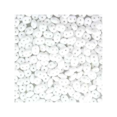 Perle SuperDuo® Mini Chalkwhite 2X4mm (10gr)