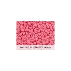 Perle SuperDuo® Mini Opaque Rose Silk Mat 2X4mm (10gr)