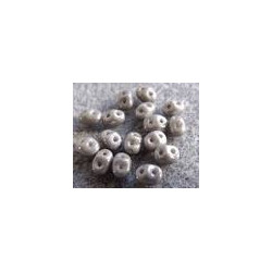 Perle SuperDuo® Mini Opaque Grey Ceramique Look 2X4mm (x10gr)