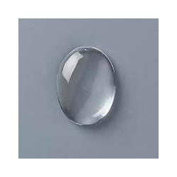 Cabochon Transparent Ovale 40x30x8mm (x1)