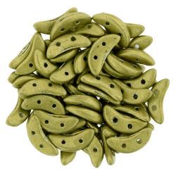 Perles Crescent Saturated Metallic Yellow Green (X5gr)