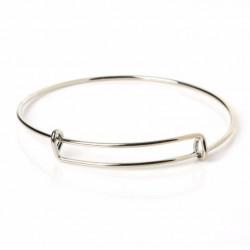 Bracelet Jonc Argenté métal (X1)