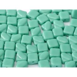 Perles Silky 6X6mm Jade (X50)