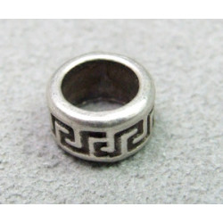 Perle rondelle intercalaire 8x5mm - argenté (x1)