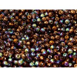 Perle en verre de Bohème 6mm Crystal Glittery Bronze (X25)