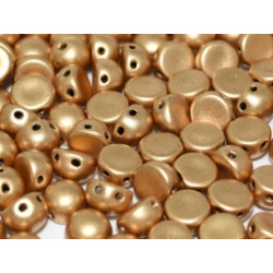 Perle Cabochon 2 trous Aztec Gold (x12)