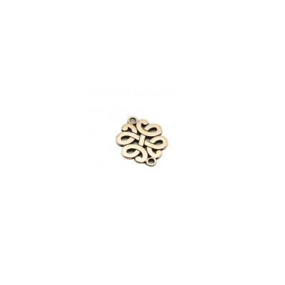 Intercalaire Noeud métal Bronze 2 trous 17x13mm (X1)