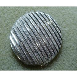 Cabochon en Résine 20mm Strié Argent (X1)