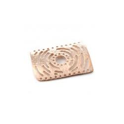 Plaque Intercalaire 30X42mm Rose Gold (X1)