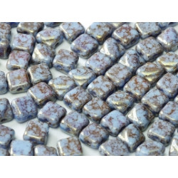 Perles Silky 6X6mm Teracota Red (X50)