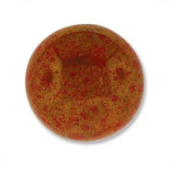 Cabochon Round 24mm Red Coral Luminous (x1)