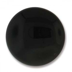 Cabochon Round 24mm Black (x1)
