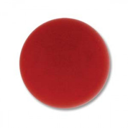 Cabochon Round 18mm Red Coral (x1)