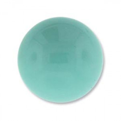Cabochon Round 18mm Green Turquoise (x1)