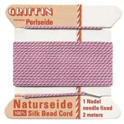 Fil de Soie 0.45mm Dark Pink 2m (x1)