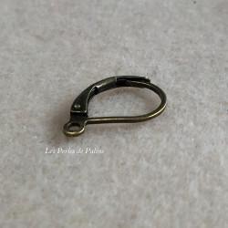 Boucle Dormeuse Bronze 18X13mm (X2)