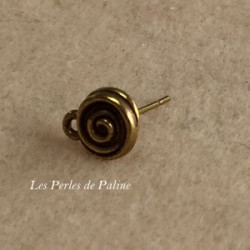 Boucle Perceuse spirale Bronze (X2)
