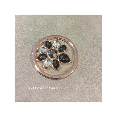 Cabochon métal Poire 33 mm Or Rose (X1)