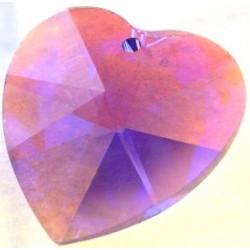 Coeur Swarovski 28mm Violet Blue ab (X)