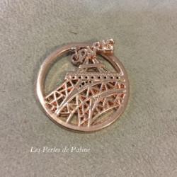 Cabochon métal Paris 33 mm Or Rose(X1)