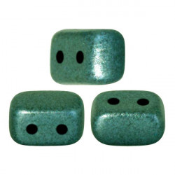 "Perles ""Ios®"" par Puca® 5,5X2,5mm Metallic Mat Green Turquoise (x5gr)"