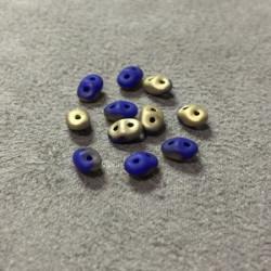 SuperDuo Duet® 2,5X5mm Blue Fool'S Gold (x10gr)