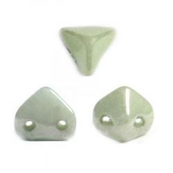 Perles en verre Super-Khéops® par Puca® 6mm Opaque Light Green Ceramic Look (x5g)